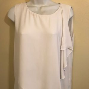 Ann Taylor xl white sleeveless top